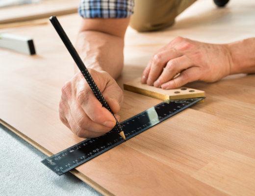 floor worker with pencil