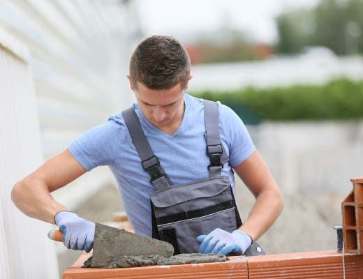 young brick worker
